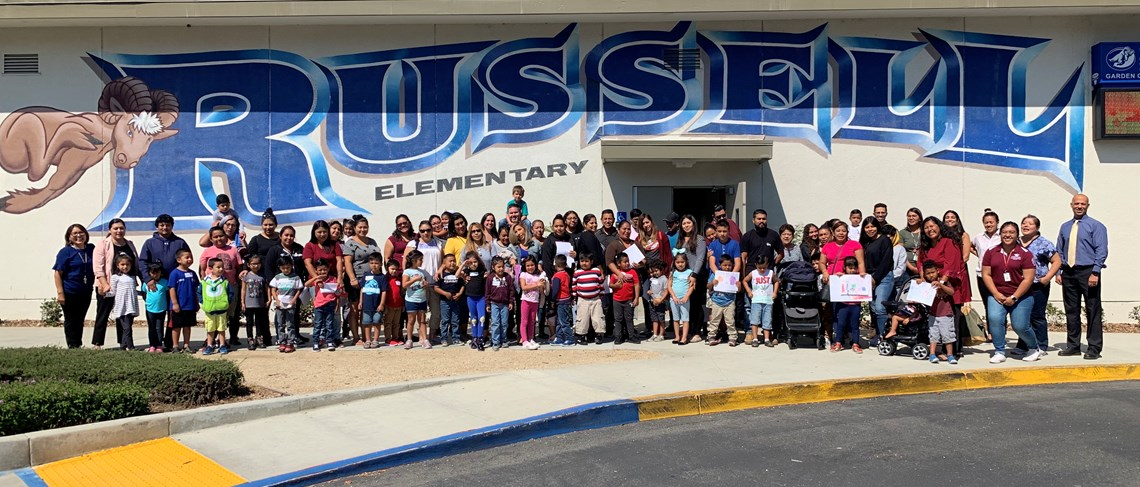 Russell families from our Dual Language Program attend the PrepaKinder Orientation in late August